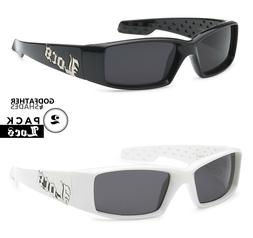 2 Pack LOCS | Black + White Sunglasses Hardcore Gangster Mot