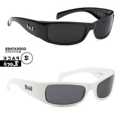 2 Pack LOCS | Black + White Sunglasses Hardcore Gangster Sle