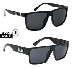 2 Pack LOCS Mens Gangster Designer Flat Top Shades Black OG