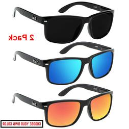 2 Pack Mens Locs Sunglasses Sports Gangster Biker Dark Shade