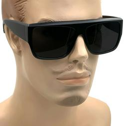 2020 MENS Black Flat Top New Large Motorcycle Style Sunglass