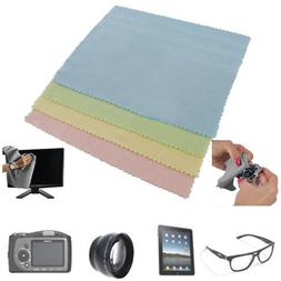 4 Microfiber Optical Cleaning Cloth Dvd Lcd Camera Lens Scre