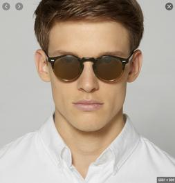 OLIVER PEOPLES 47mm GREGORY PECK Round POLARIZED Unisex Sung