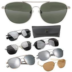 Aviator US Air Force Style Pilot Sunglasses Military Army Fr