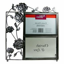 """Better Homes And Gardens """"Cherish & Love"""" Silver Roses Table"""