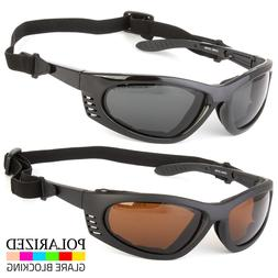 Chopper Style Wind Resistant Sunglasses Foam Padded Motorcyc