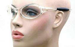 Classic Vintage Clear Frame 100% UV Protection Oval Clear Le