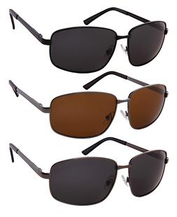 Large Fit Big & Tall Polarized Sunglasses Metal Frame For Me