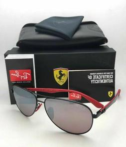 Ferrari RAY-BAN Sunglasses RB 8313-M F002/H2 Black Red-Carbo