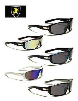 Khan Mens Large Shield Sunglasses - Pick Your Favorite - KN5