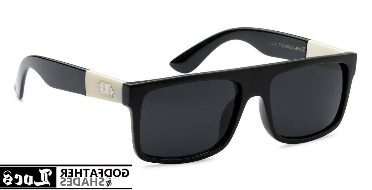 91075 black sunglasses authentic gangster squared flat