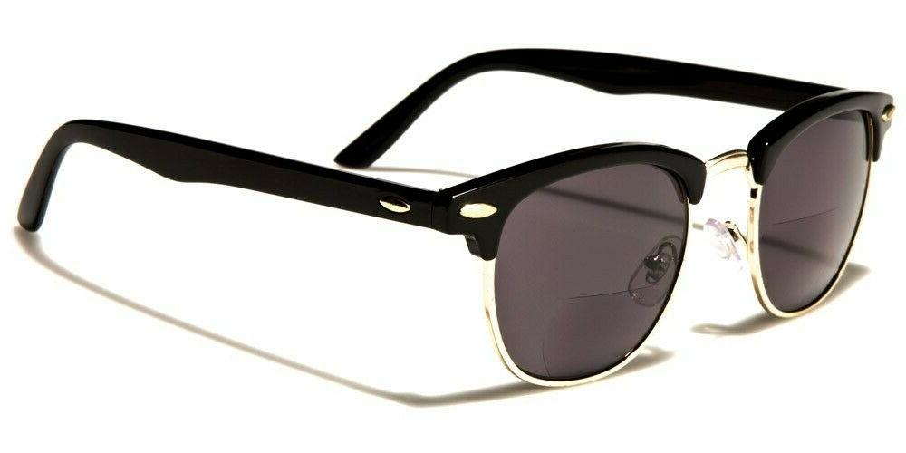 Mens Bifocal Sunglasses Club Style Glasses Rectangle Anti