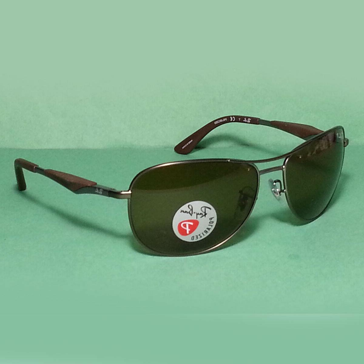ray ban polarized sunglasses rb 3519 brown