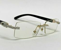 For Men's Sunglasses Brown Lens Rhinestone Crystal Buffs Rim
