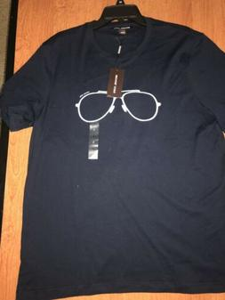 Michael Kors Men's Sz. Large Sunglasses Graphic T-Shirt Blue