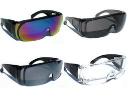 Men Women Fits over RX Glasses Safety Sunglasses Goggles Pro