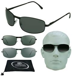 MENS BIG & TALL Sunglasses Extra Large XL Wide Fit Metal Fra
