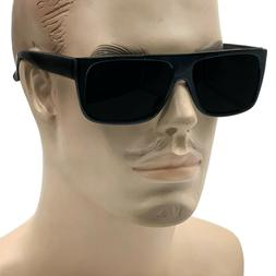 MENS Black Flat Top OG Motorcycle Style Sunglass New Super D