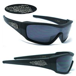 Mens Choppers Motorcycle Riding Sports Fire Logo Sunglasses