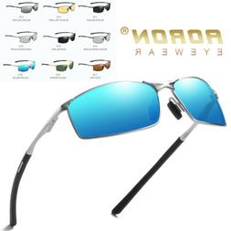 Aoron Mens Vintage Polarized Driving Sunglasses Outdoor Fish