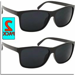 Mens Womens Sunglasses All Black 2 Pair Classic Sunglass Spo