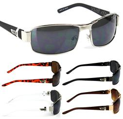 Mens Wrap Around Sunglasses Fashion Designer Rectangular Ret