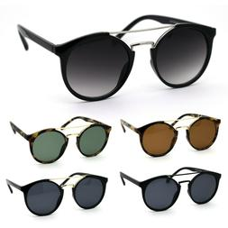 Mod Classic Round Double Rim Flat Top Round Keyhole Sunglass