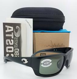 NEW Costa Fantail Global Fit Sunglasses Black Grey 580G TF 1