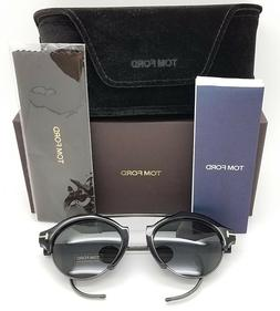 New Tom Ford Farrah Oval sunglasses FT0631/S 01A 49mm Black