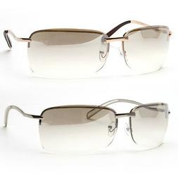 New Men Rectangular Rimless Transparent Sunglasses Eyewear B