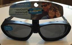 SOLAR SHIELD POLARIZED FITS OVER - SPORT - VENTED - BLACK WI