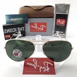 Ray-Ban Aviator Classic Sunglasses RB3025 001/58 Gold Frame