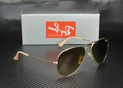 RAY BAN RB3025 112 85 Aviator Matte Gold Brown Gradient 58 m