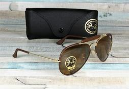 RAY BAN RB3422Q 9041 Aviator Craft Leather Brown Brown 58 mm