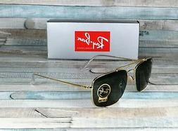 RAY BAN RB3560 001 The Colonel Gold Green 58 mm Men's Sungla