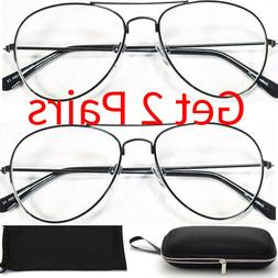 READING SUNGLASSES Metal Wired Oval AVIATOR READERS for Mens