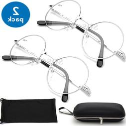READING SUNGLASSES Metal Wired Round AVIATOR READERS for Men