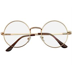 Round Glasses Retro Vintage Classic Metal Clear Lens Round H