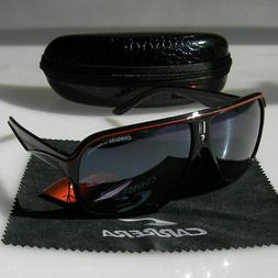 Sunglasses Unisex Carrera Glasses Retro Black Red Matte Fram