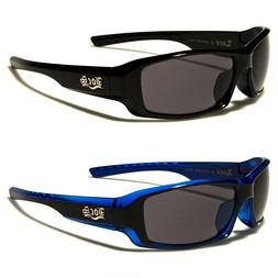 Locs Two Tone Rectangle Men's Motorcycle Rider Sunglasses