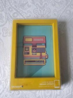 Polaroid Yellow Gloss Finish Wooden Desk/Wall Picture Frame